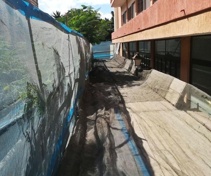 Montaje andamios en el Puerto de la Cruz