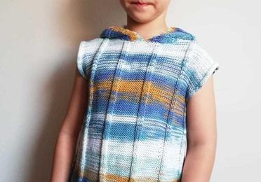 Jersey de niño sin mangas con capucha