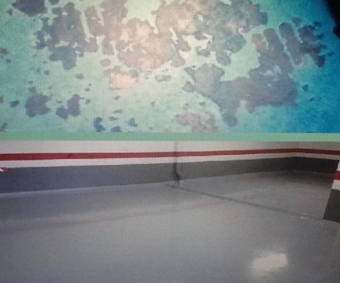Reparación de garaje particular con sistema multicapa epoxi. ANTES-DESPUÉS.