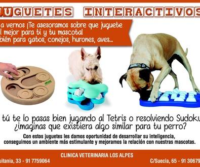 JUGUETES INTERACTIVOS PARA ANIMALES