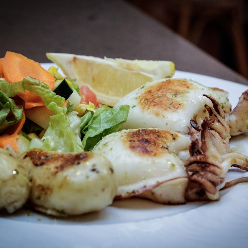 Meat, fish and seafood: Menu de El Fogón