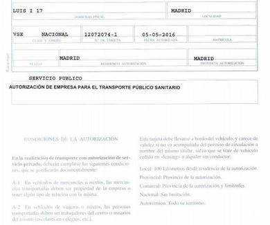 AUTORIZACIÓN PARA EL EJERCICIO DE LA ACTIVIDAD