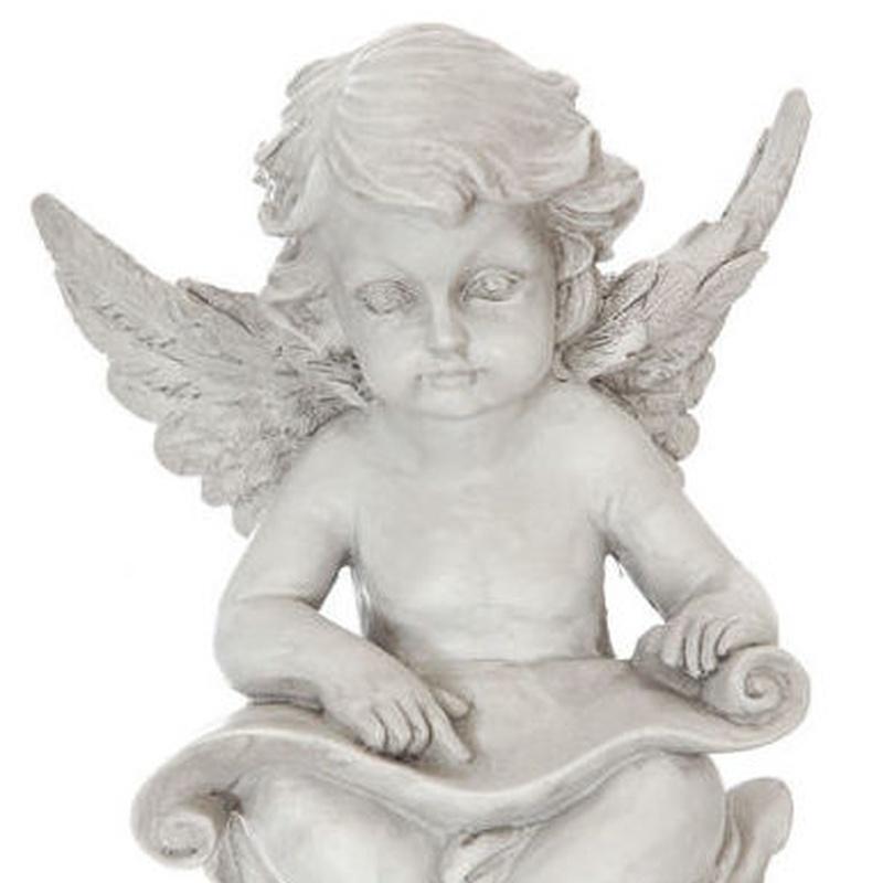 FIGURA DE ANGEL SENTADO (15CM)/ GRIS REF: 84602/GREY PRECIO: 4,50€