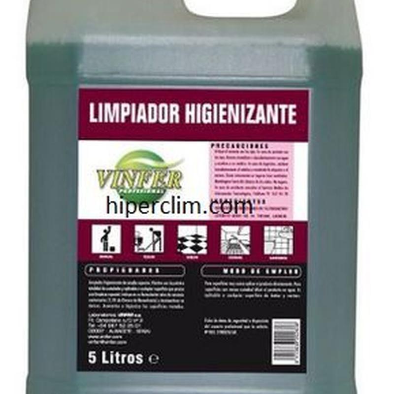 Limpiador Higienizante Vinfer 5 litros.