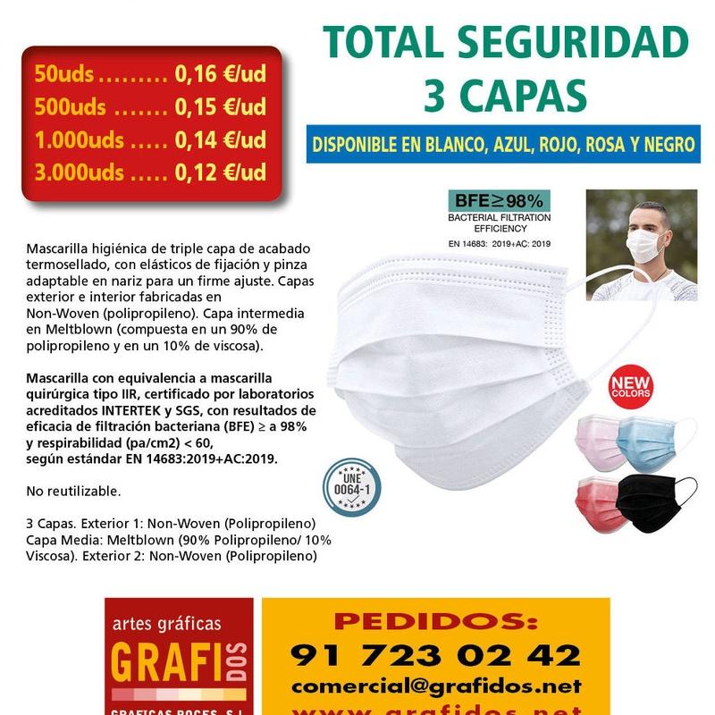Mascarillas FFP2, FFP3, Higienicas Lavables y Quirúrgicas, Gel - COVID-19: Qué hacemos de GRAFIDOS