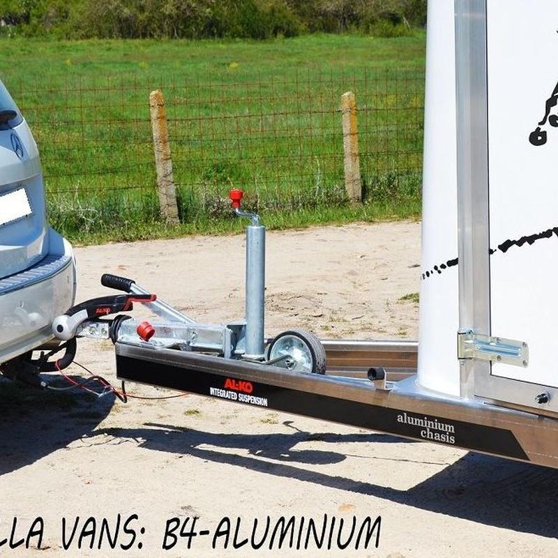 Remolque van para dos caballos B4-Aluminium