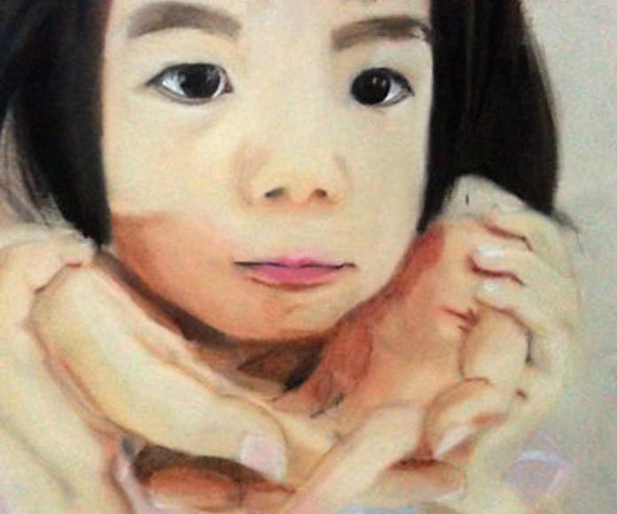 Pastel al óleo sobre papel. Chen Xin. 13 años.