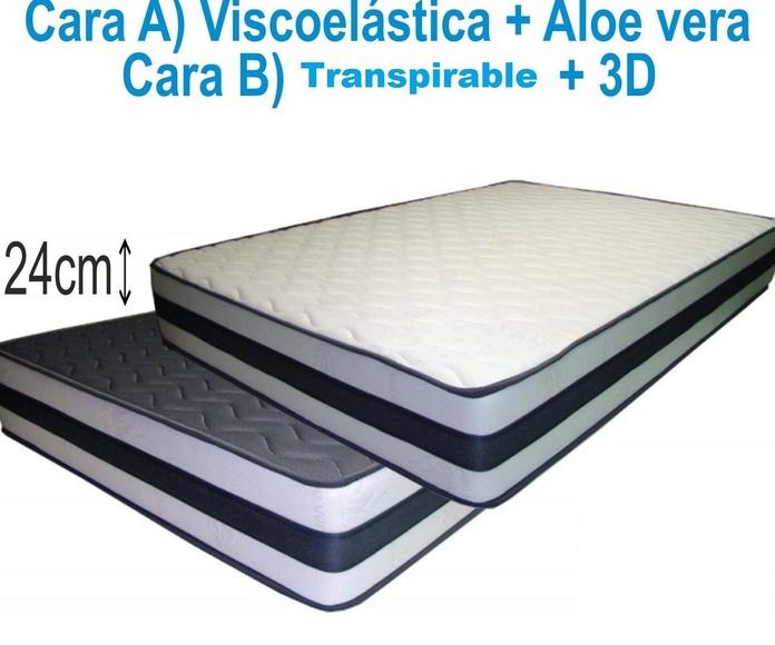 Colchón VISCOELÁSTICO+3D+TRANSPIRABLE 24cm---DESDE 125€(75X190): Productos y Ofertas de Don Electrodomésticos Tienda online