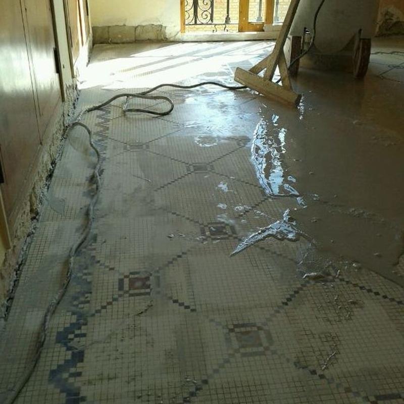Pulido de suelos de mosaico hidraulicos Valencia