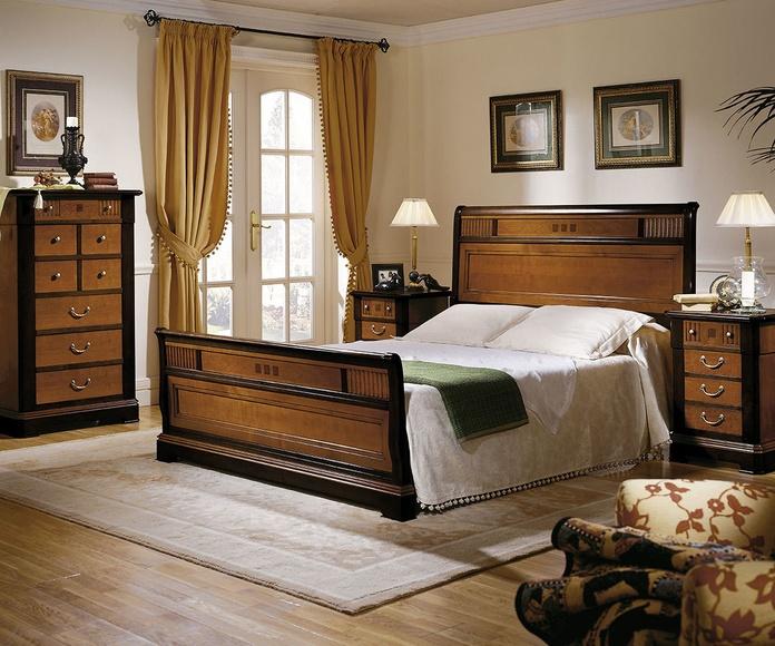 Dormitorio mod 66 Icaro, Nogal cerezo y negro envejecido