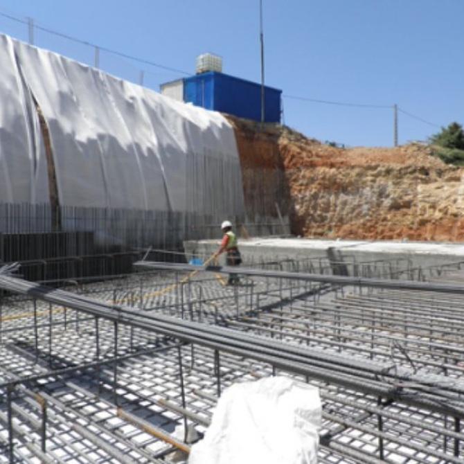 El proceso de cimentación de los edificios y la ferralla