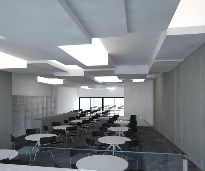 Diseño de cafetería para edificio de oficinas