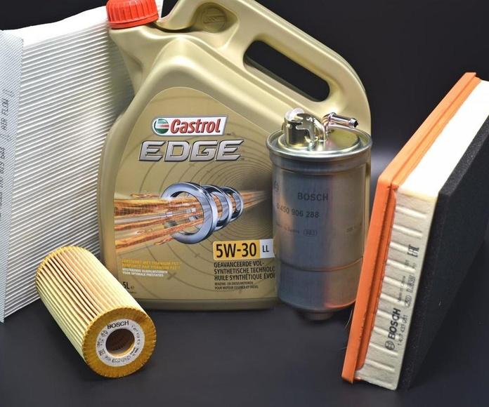 Cambio de aceite y filtros, servicio mantenimiento coches multimarca