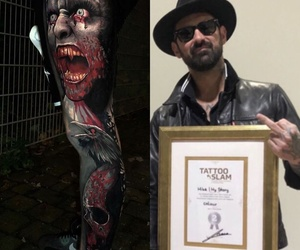 Tatuaje premiado en Tattoo Slam convention Alemania