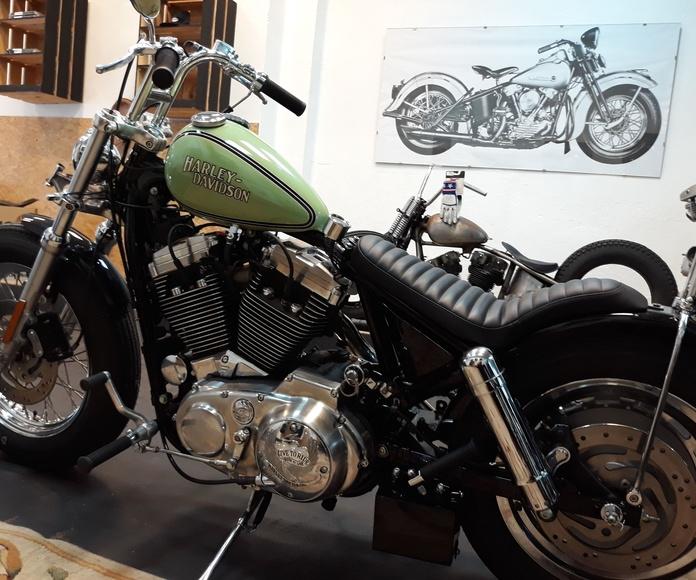 Harley davidson, shovelhead , bobber, chopper, custom ,motos custom Valencia, motos oldschool, sportster
