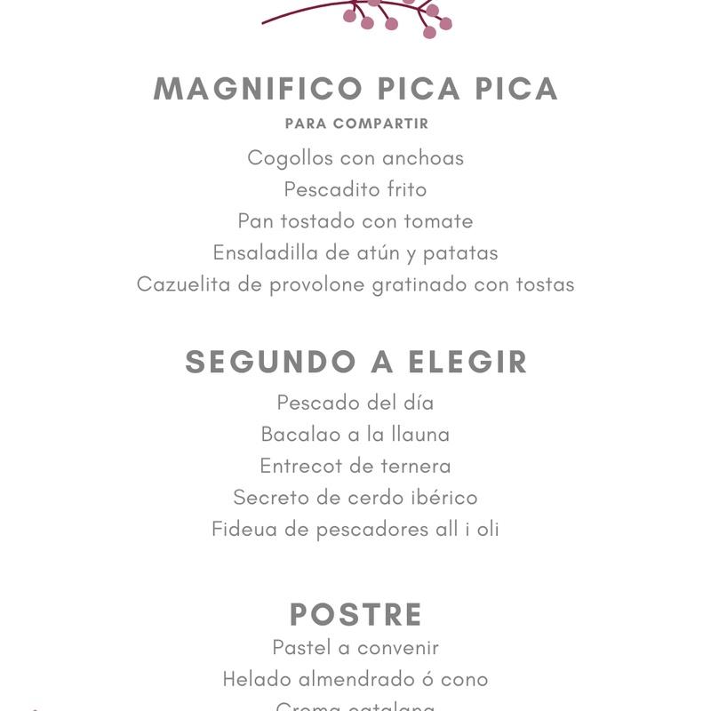 Menú Especial Grupo Nº 2: Carta de Restaurant Mundial