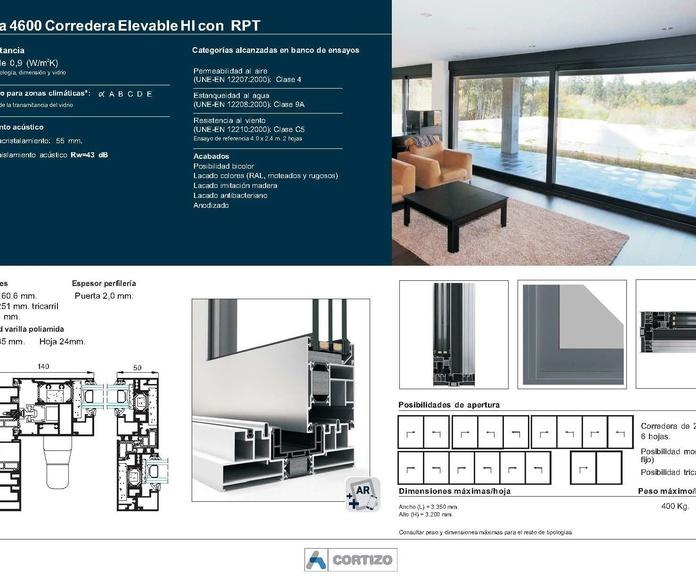 4600 Corredera Elevable HI RPT: Catálogo de Jgmaluminio