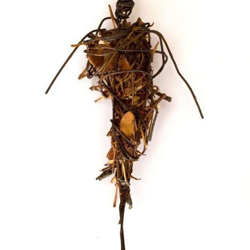 Africa. Mixed technical sculpture. 21 X 12,5 cm.SOLD