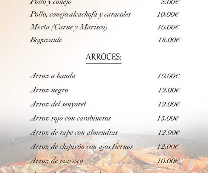 Comer paellas en Sagunto