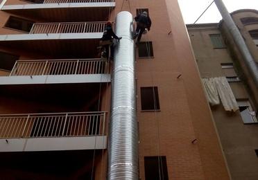 Instalacion de chimeneas modulares