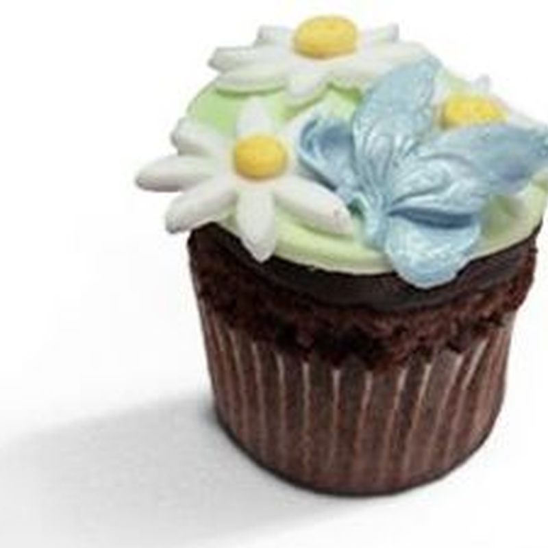 Cupcakes de chocolate con motivos primaverales: Productos de MartaPino Postres