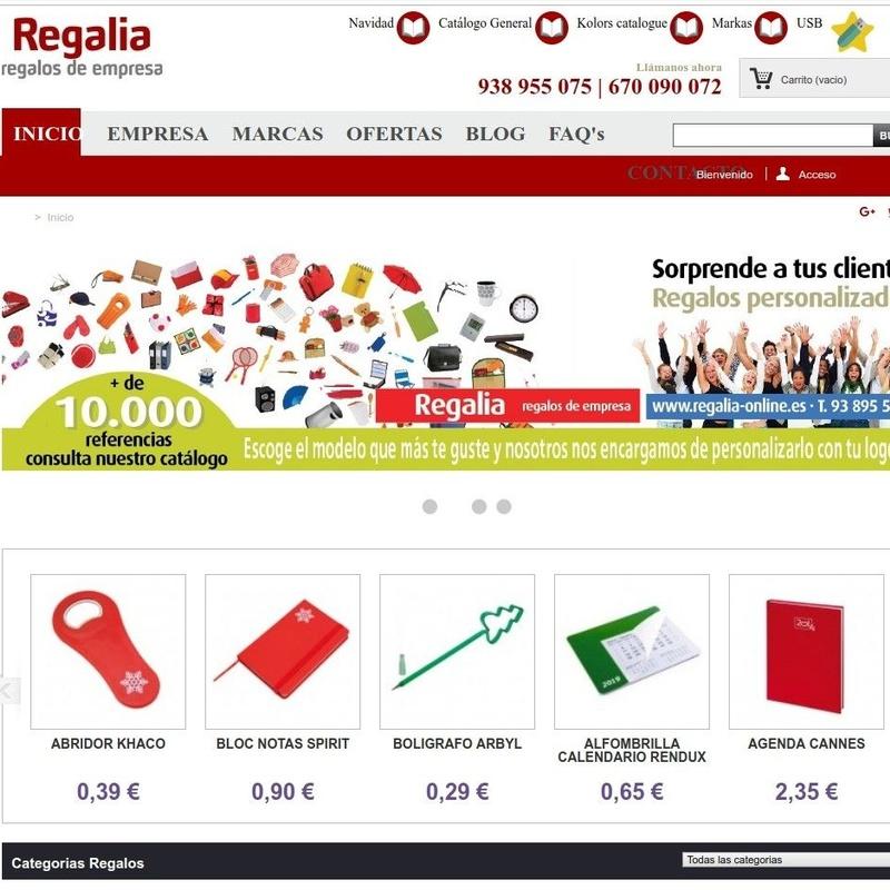 REGALIA - Tienda Online: Servicios de Impresalia Mongrafic