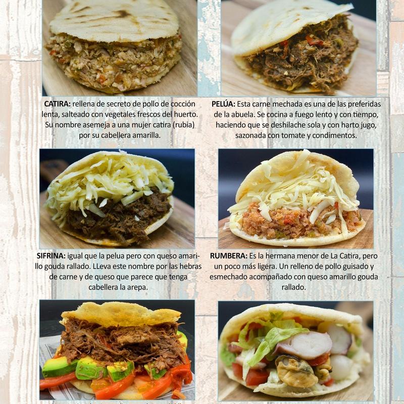 Arepa Venezolana: Carta de Restaurante Pal-buche