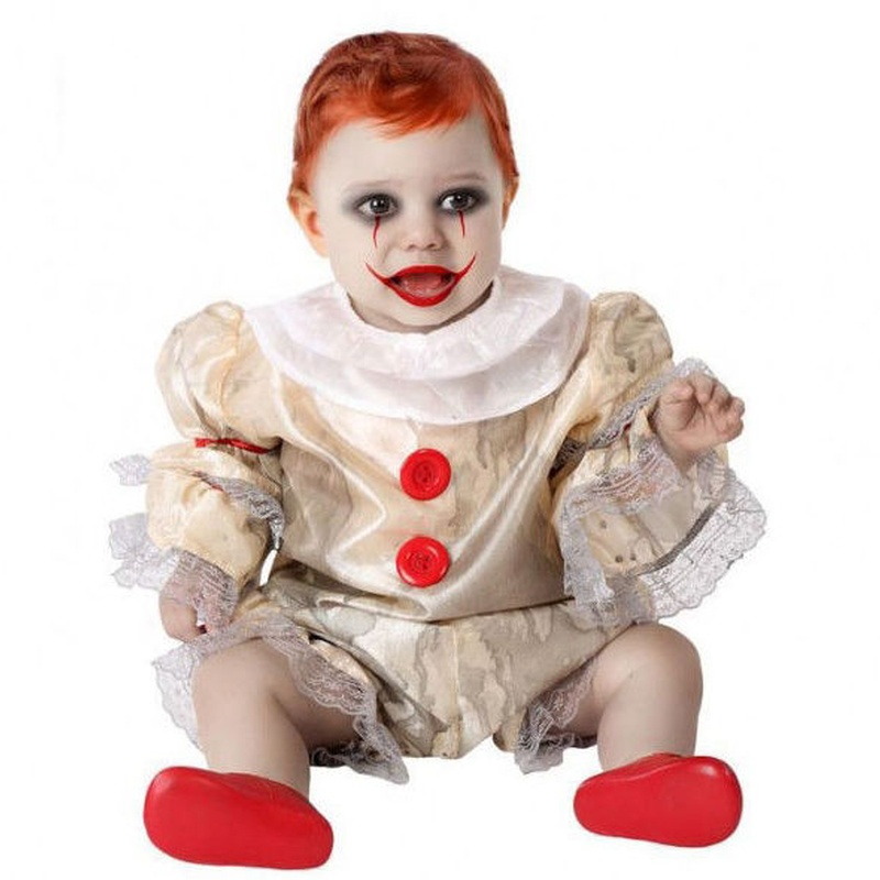 Disfraz payaso diabólico bebé