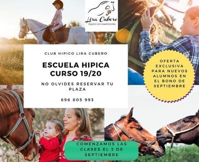 Escuela de Equitación Lira Cubero. Curso 2019/2020