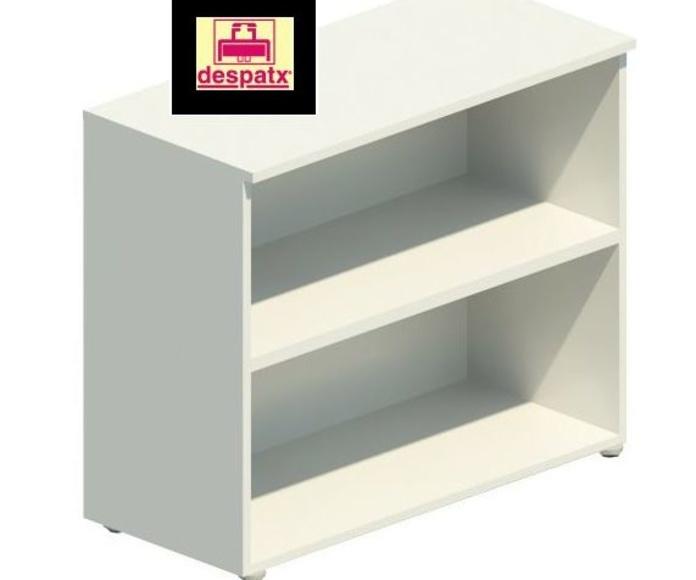 armario bajo abierto con un estante regulable. Color Blanco roto