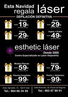 Regala sesiones de depilacion laser