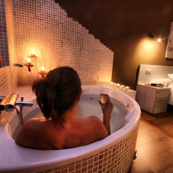 Bañera de hidromasaje como método de relajación