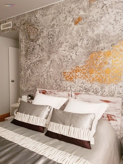 Pared Decorativa Archi + Concrete #Dormitorios