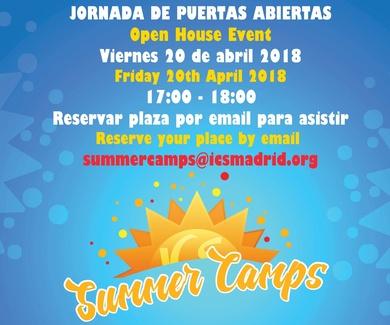 Matrícula abierta para Summer Camps 2018 en ICS Madrid