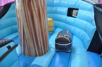 Barco pirata suelo azul con obstaculos