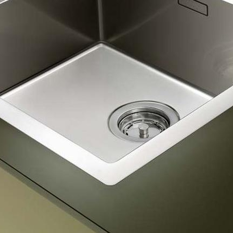 Fregaderos Blanco de acero inoxidable modelo Blanco Claron 400-IF/A