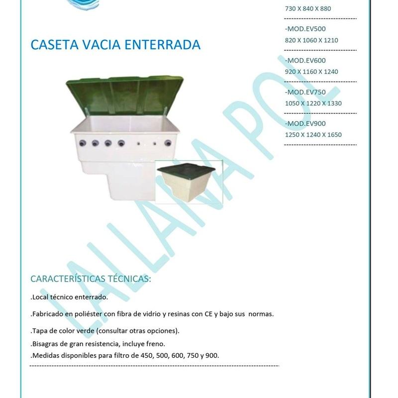 CASETA VACIA ENTERRADA PARA EQUIPO DE DEPURACIÓN PISCINAS