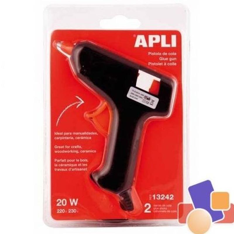 Pistola termofusible de cola-silicona Apli 20w. 8410782132424
