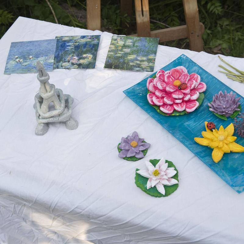 Esposició ceràmica i pintura en el festival fi de curs 2011