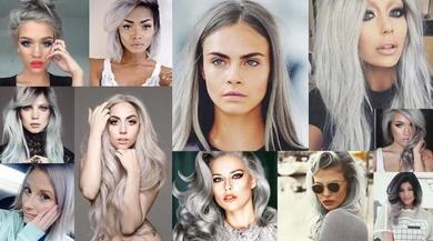 Grannyhair. Se impone el color plata en el cabello
