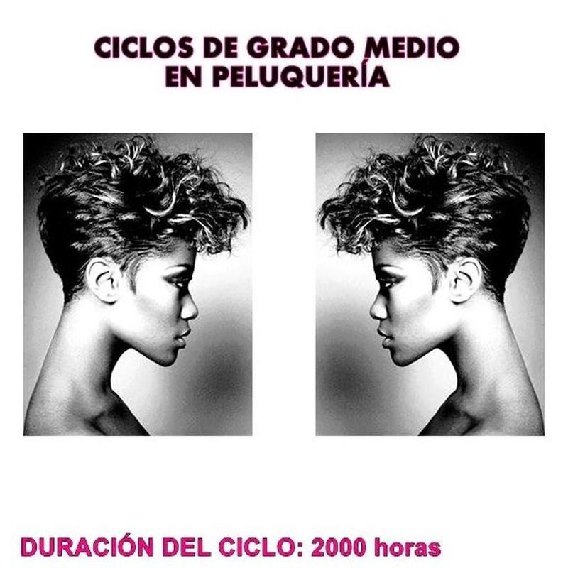 Ciclo formativo de grado medio de peluquería y cosmética capilar: Cursos peluquería y estética de Centro de Formación de Peluquería y Estética Virgen de los Llanos Moliné