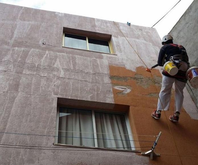 Trabajos verticales: Servicios de Fachadas Estévez