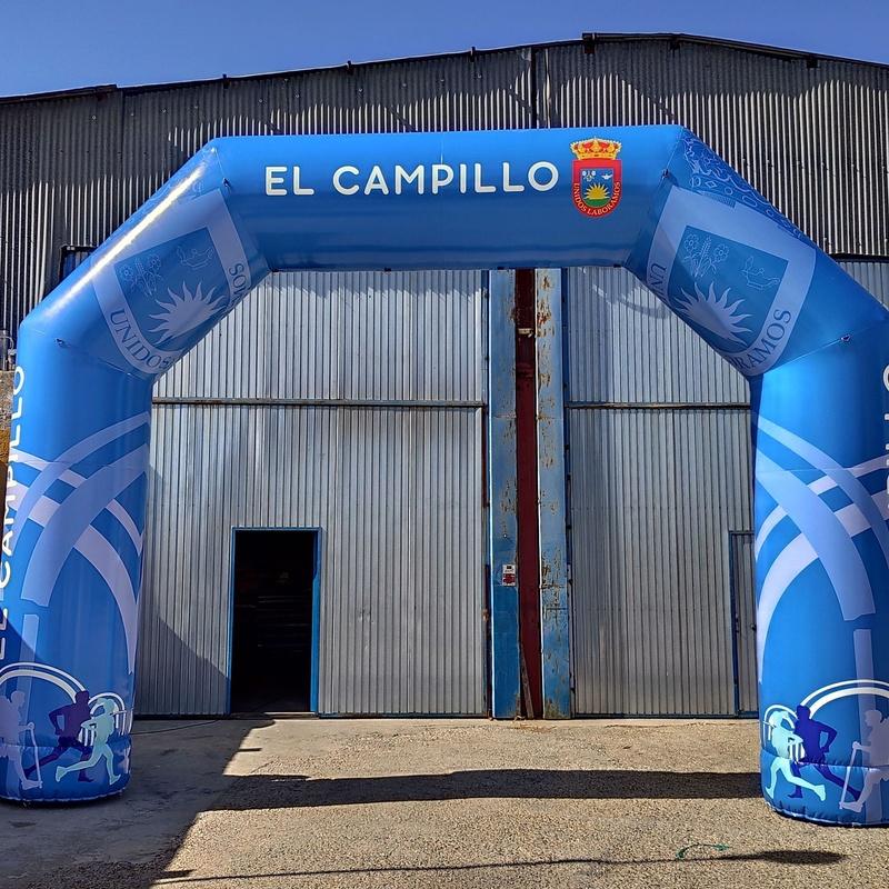 Arco de meta El campillo : Catálogo de Hinchables Happy Jump
