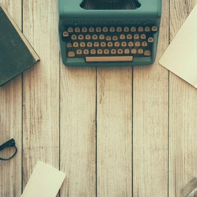 Un toque vintage para tu casa con una máquina de escribir