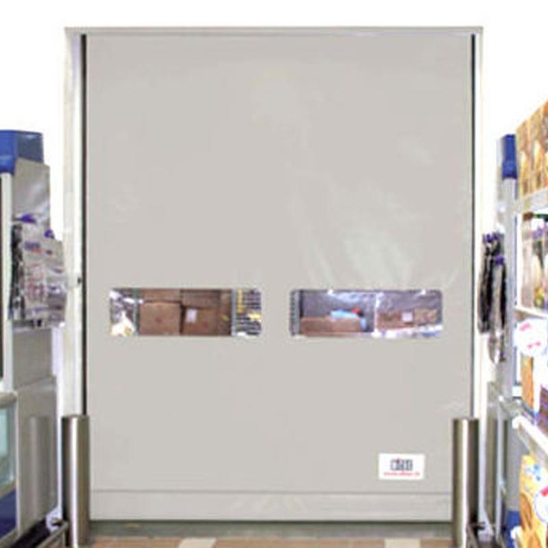 Puerta automatica lona Sector