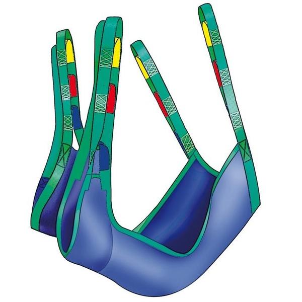 Arnés de grúa para amputados y postoperados de cadera