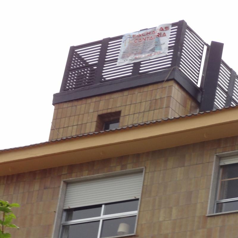 Reparación de alero Santander, pintores en altura.