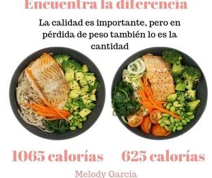 Mismo plato, diferentes calorías