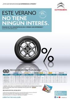 FINANCIACIÓN NEUMÁTICOS 3 MESES SIN INTERESES