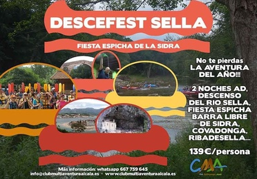 DIA 12 Y 14 JULIO Descenso del Sella DESCEFEST SELLA